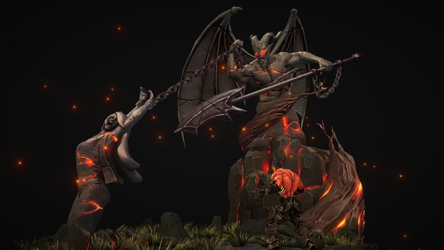 Demon and Woman 3D Model