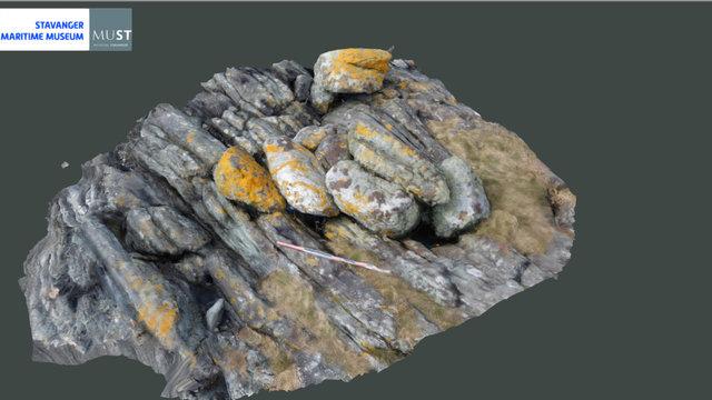 Fortøyningsrøys / Mooring rocks near Avaldsnes 3D Model