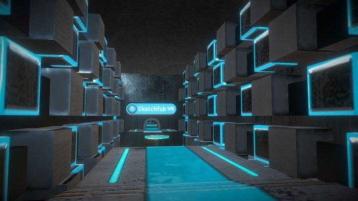 Level 01 - VR platform game on Sketchfab 3D Model