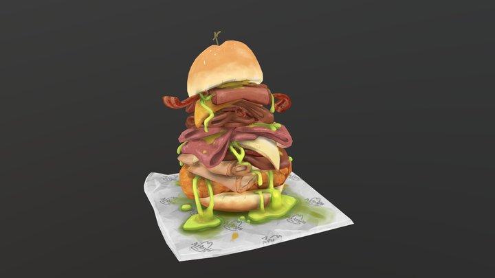 Meat Mountain (Arby's Fan art) 3D Model