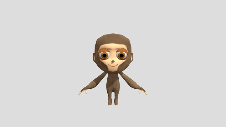 stylized monkey 3D Model