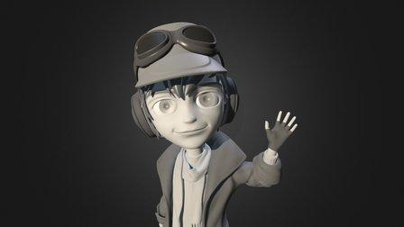 Pilot Character - CG Cookie Coursework 3D Model