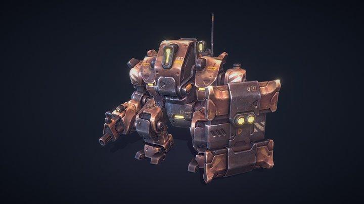 Mech Constructor: The Defender 3D Model