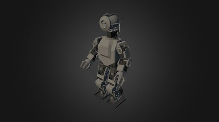HR-OS1 Humanoid Robot Kit - Orion v1.0 3D Model
