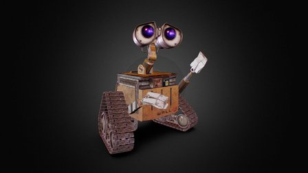 Wall-e model PBR 3D Model