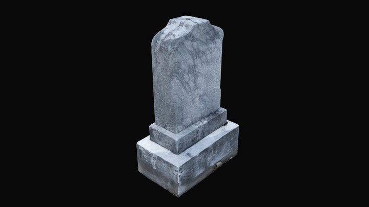 Old New England Headstone 3D Model