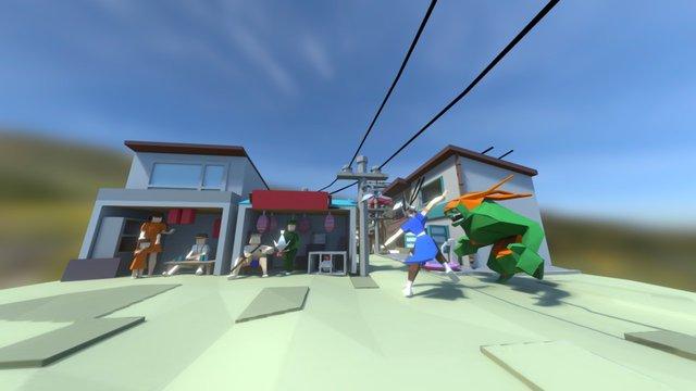LowPoly Streetfigher 3D Model