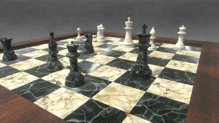 Decorative Chess 3D Model