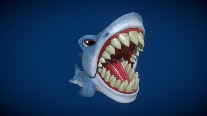 scarymals toy - shark 3D Model