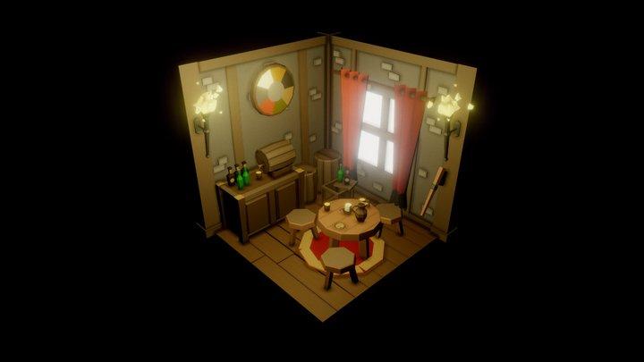 SimPoly Tavern - Interior 3D Model