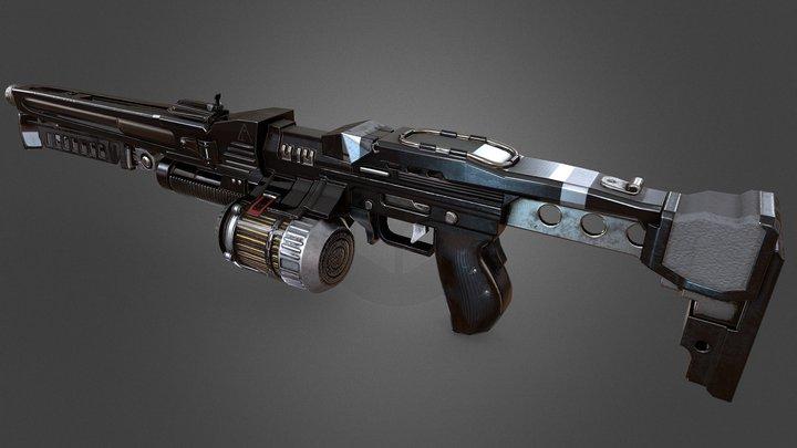 Helghast StA-3 Light Machine Gun 3D Model
