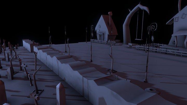 Tim Burton Street 3D Model