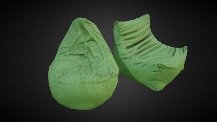 Astounding Bean Bag Chair Downloads A 3D Model Collection By The Pabps2019 Chair Design Images Pabps2019Com