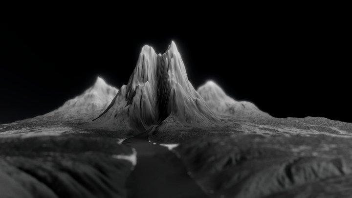 3 Mountain 3D Model