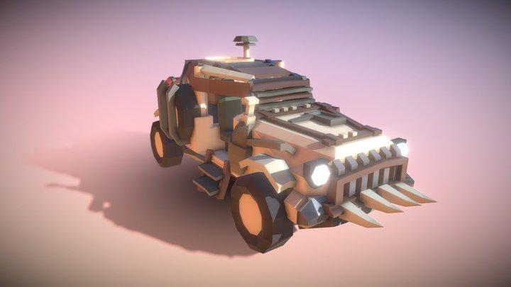 Wasteland Car 3D Model
