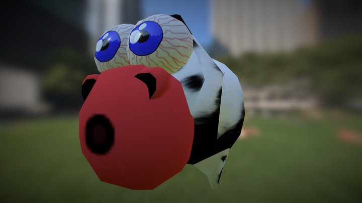 Silly Moo COW  3D Model
