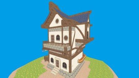 Sprytile Demo Building 3D Model