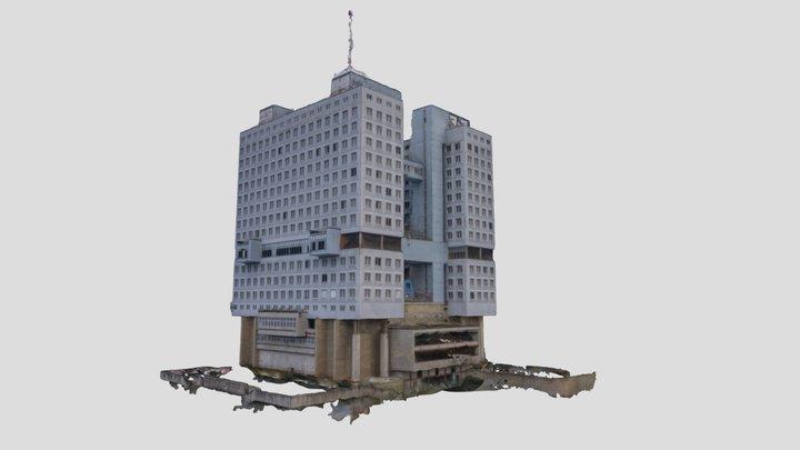 Дом Советов, Калининград (с земли) 3D Model