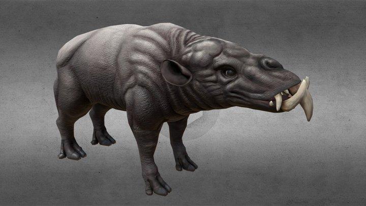 ArenaNet Creature Test: Bovine Sheartusk 3D Model