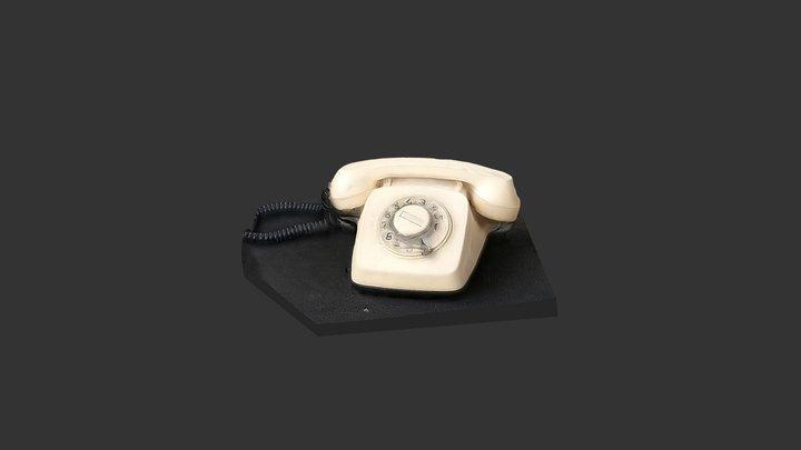 Retro Phone 3D 3D Model