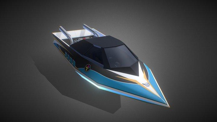 Low-Poly Jetsprint 3D Model