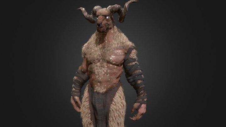 Minotaur Goat Creature 3D Model