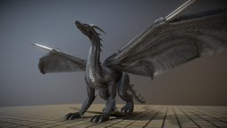 Black Dragon with Idle Animation 3D Model