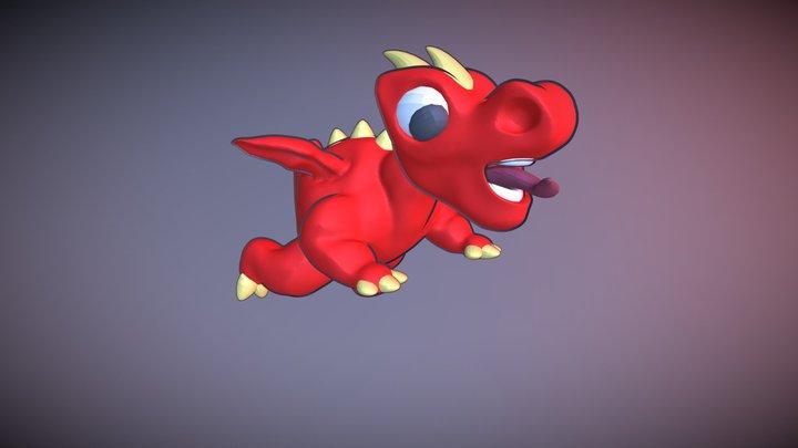Stylized Drake made in Blender 3d. 3D Model