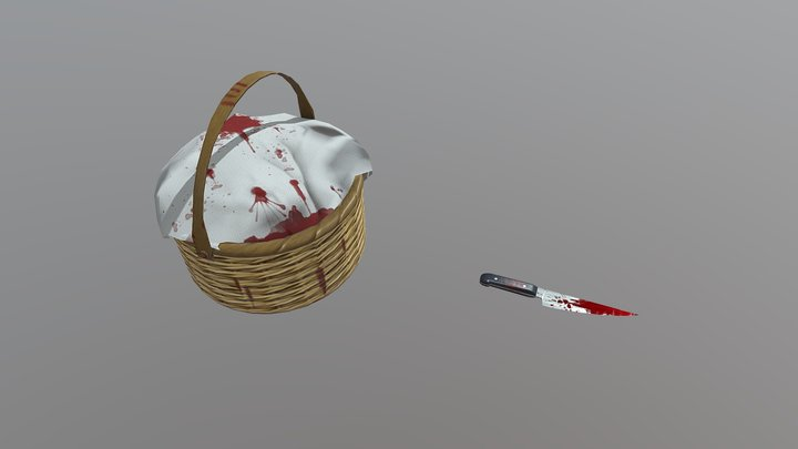 Dark Red Riding Hood Props [College Assignment] 3D Model