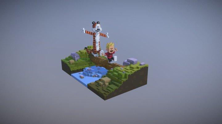 Calvin And Hobbes 3D Model