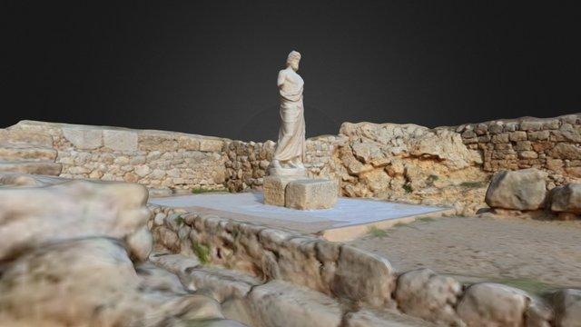 Esculapio/Serapis en su templo de Emporion 3D Model