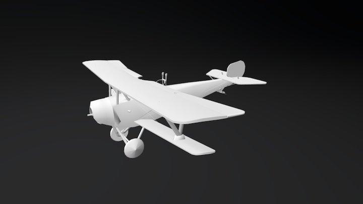 Nieuport 12 - First World War Airplane 3D Model
