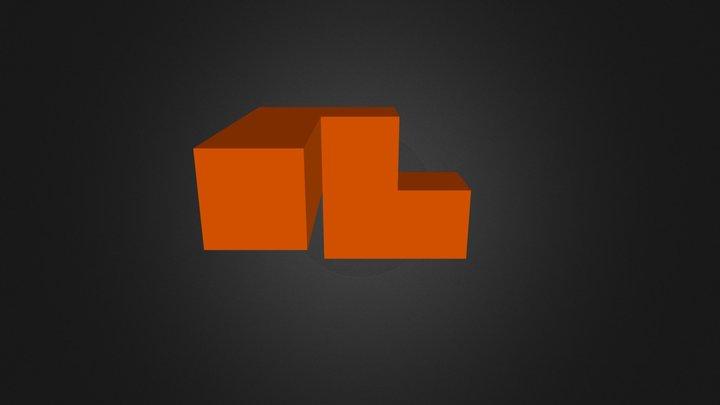 Red Puzzle Cube Part 3D Model