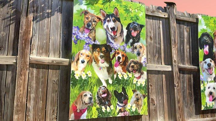 Dog Park Mural 3D Model