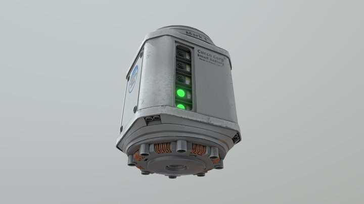 SM Small Battery Sketch 3D Model