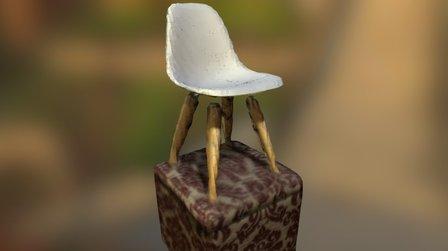 iSense Test - Chair On Ottoman 3D Model
