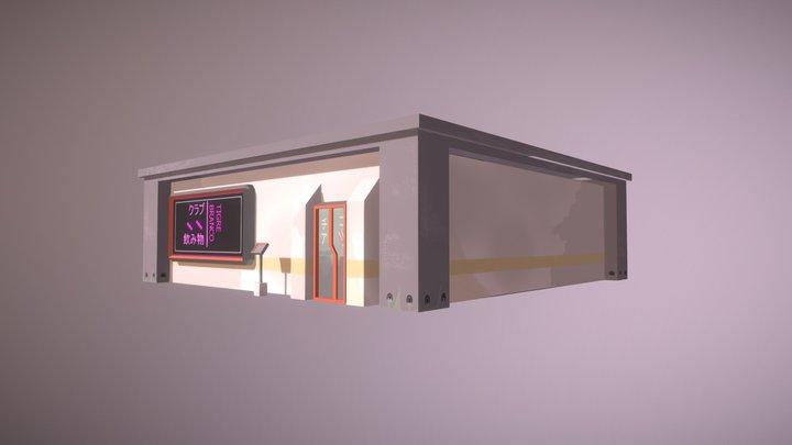 Low Poly Cyberpunk Club First Floor 3D Model