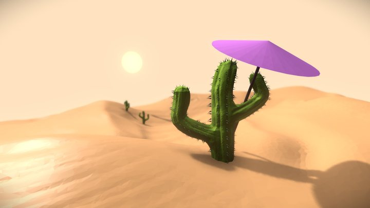 Day 4 - Desert (SculptJanuary 2018) 3D Model