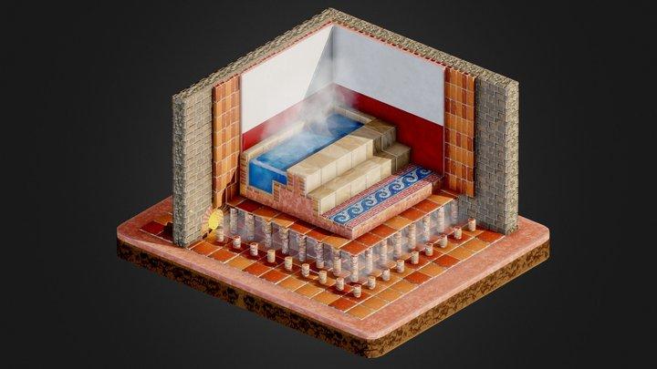 Roman Heating : hypocaust 3D Model