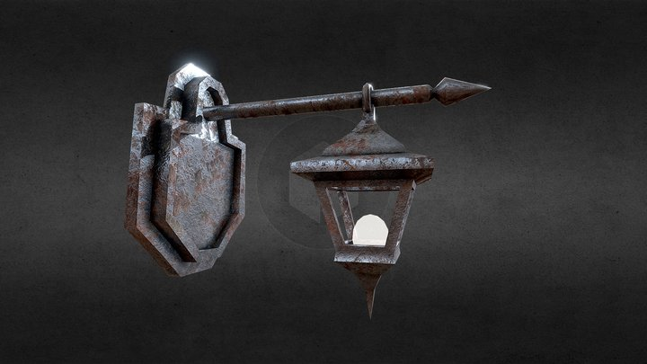 old rusty Lantern | Low Poly | Game Asset 3D Model