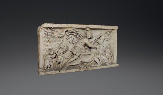 Tauroctony in the Mithraeum near Circus Maximus 3D Model