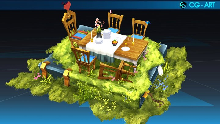 Alice's table_ Reese Lee 3D Model