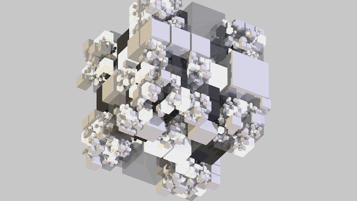 op-art cubes motion # 2 3D Model