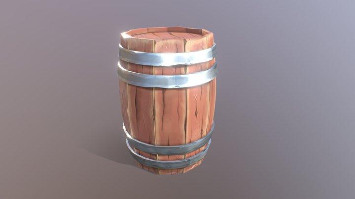 low poly cask 3D Model
