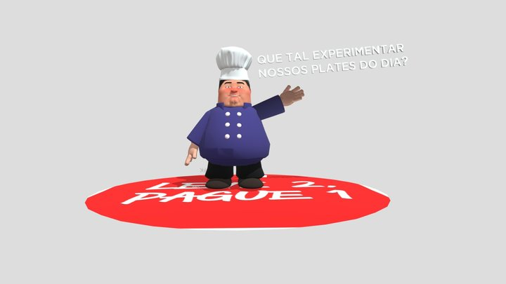 Chef Rafa 3D Model