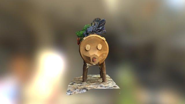 Joan's Christmas Pig 3D Model