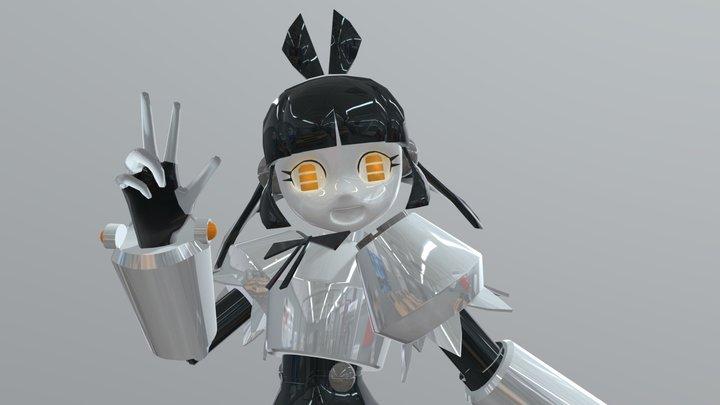 Cute Android Girl (Robotsona Jeto) 3D Model