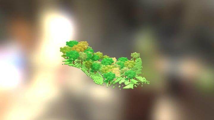 T. Minecraft 3D Model