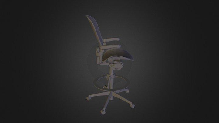Aeron Work Stool 3D Model