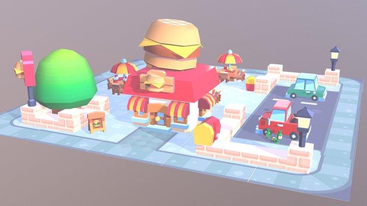 Burger Joint 3D Model